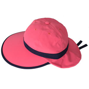 キャディ帽子 (ピンク×紺)<特価品>