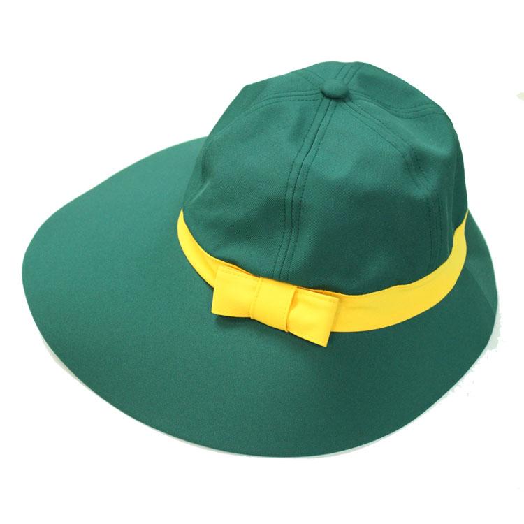 キャディ帽子(グリーン×イエロー)<特価品>