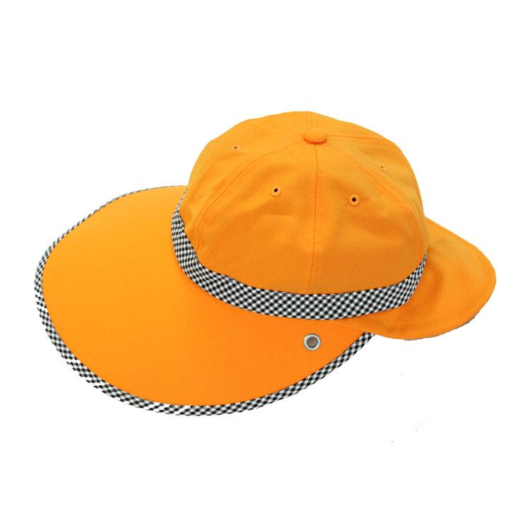 キャディ帽子 (オレンジ×チェック)<特価品>