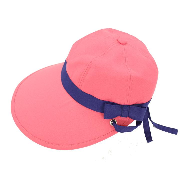キャディ帽子 (ピンク×青)<特価品>
