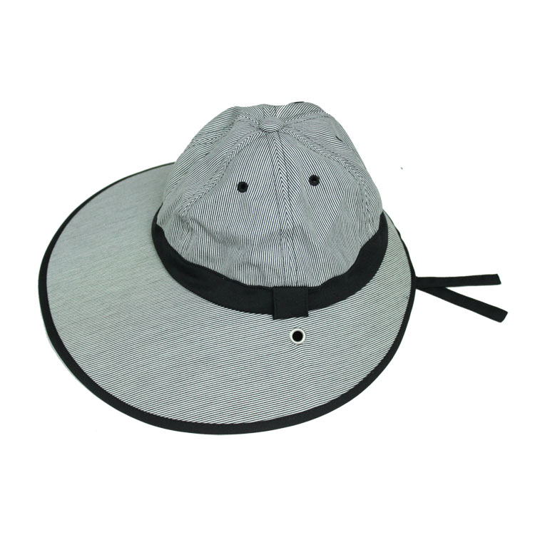 キャディ帽子 (縞×黒)<特価品>