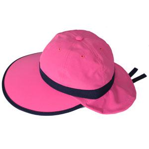 キャディ帽子 (ショッキングピンク×紺)<特価品>