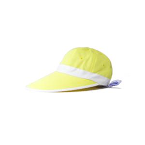 キャディ帽子 (レモンイエロー×白)