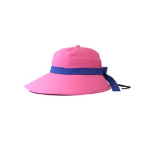 キャディ帽子 (ピンク×青)