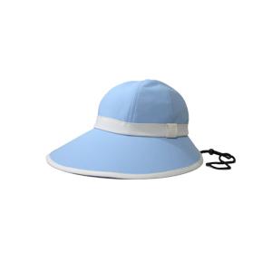 キャディ帽子 (ライトブルー×白)