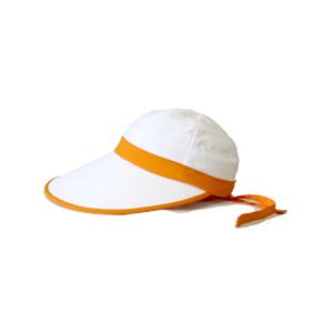 キャディ帽子 (白×オレンジ)<特価品>