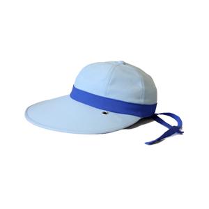 キャディ帽子 (水色×青)