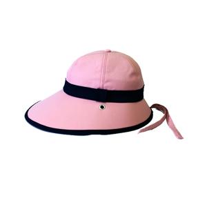 キャディ帽子 (ピンク×紺)