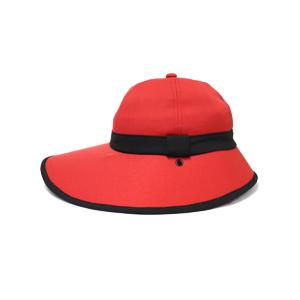 キャディ帽子 (赤×黒)