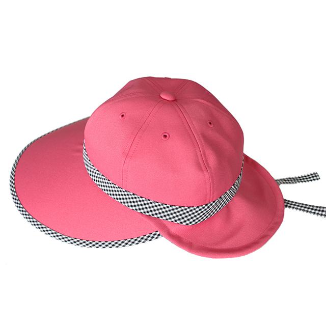 キャディ帽子 (ピンク×チェック)
