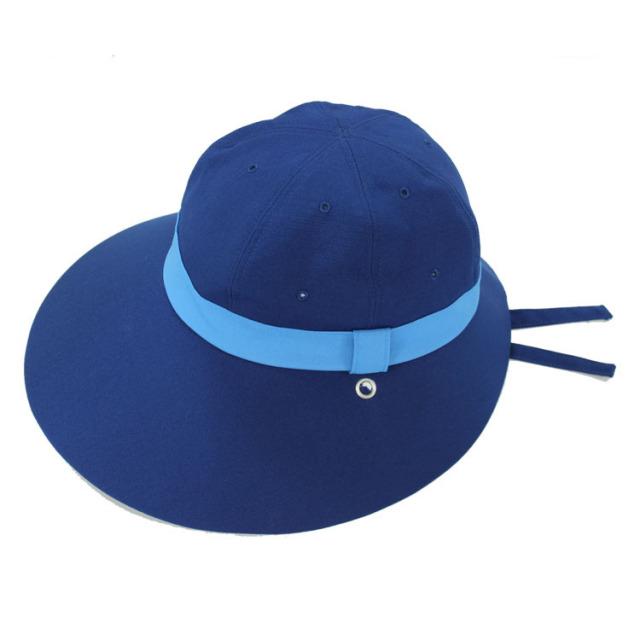 キャディ帽子(紺×ライトブルー)<特価品>