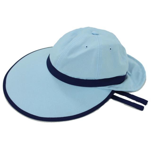 キャディ帽子 (ライトブルー×紺)<特価品>
