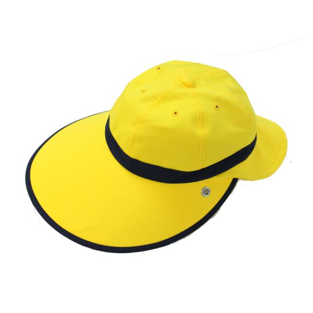 キャディ帽子 (イエロー×紺)<特価品>