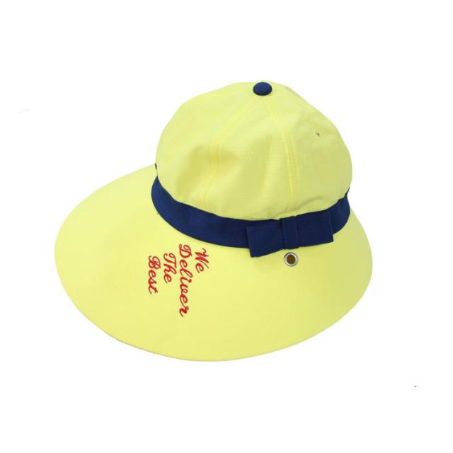 キャディ帽子 (イエロー・刺繍入り)<特価品>