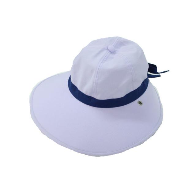 キャディ帽子 (ライトパープル×紺)<特価品>