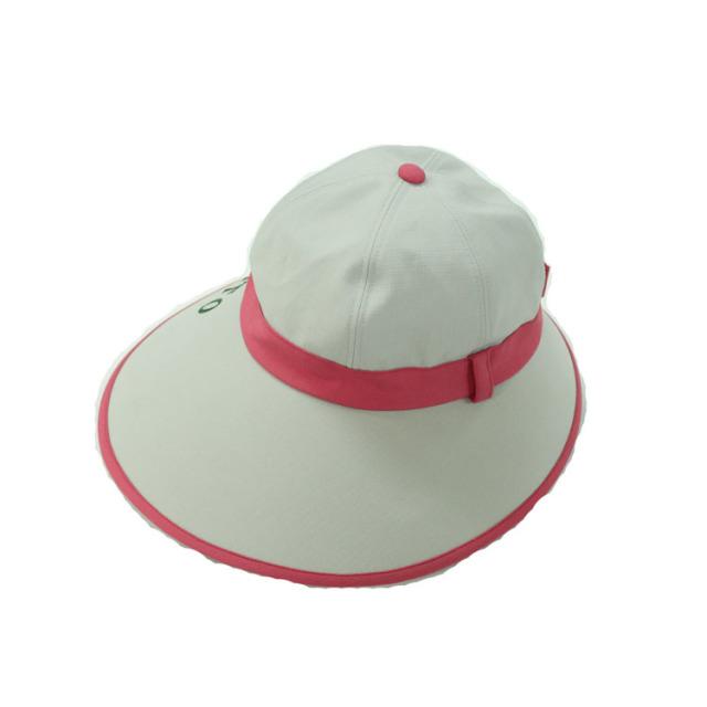 キャディ帽子 (グレー×ピンク)<特価品>