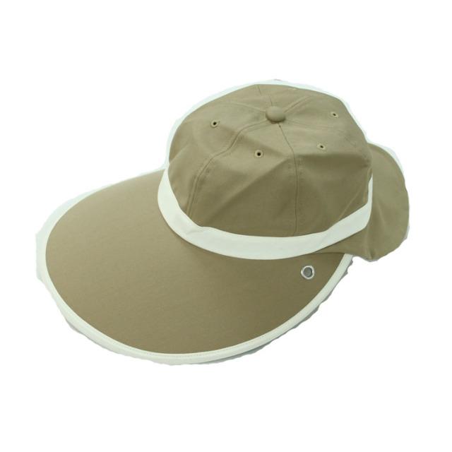 キャディ帽子 (茶×ホワイト)<特価品>