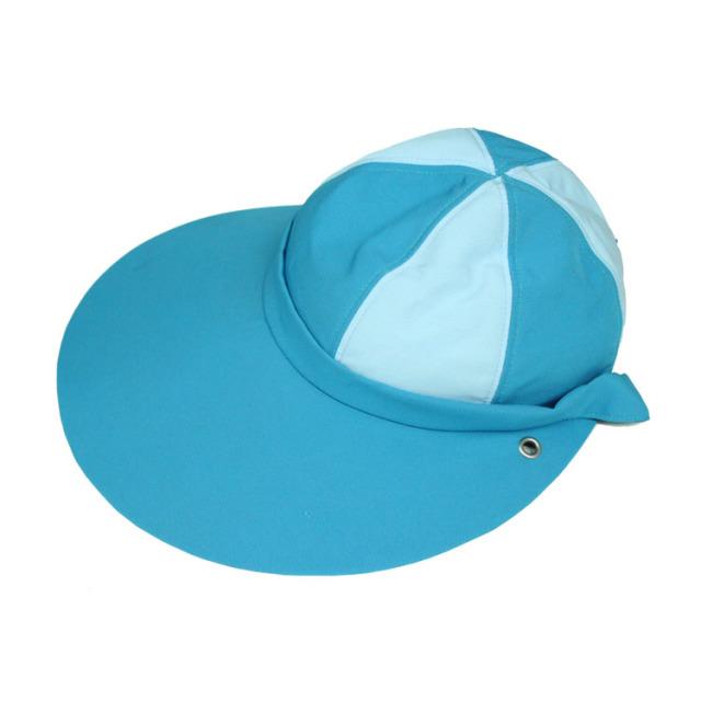 キャディ帽子 (ターコイズ×ライトブルー)<特価品>
