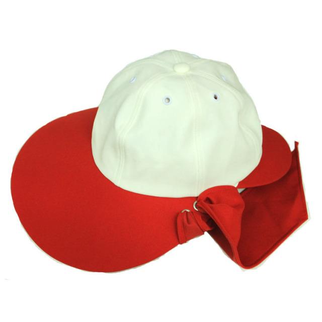 キャディ帽子 (赤×白)<特価品>