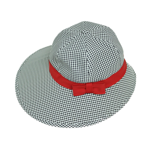 キャディ帽子 (チェック×赤)<特価品>