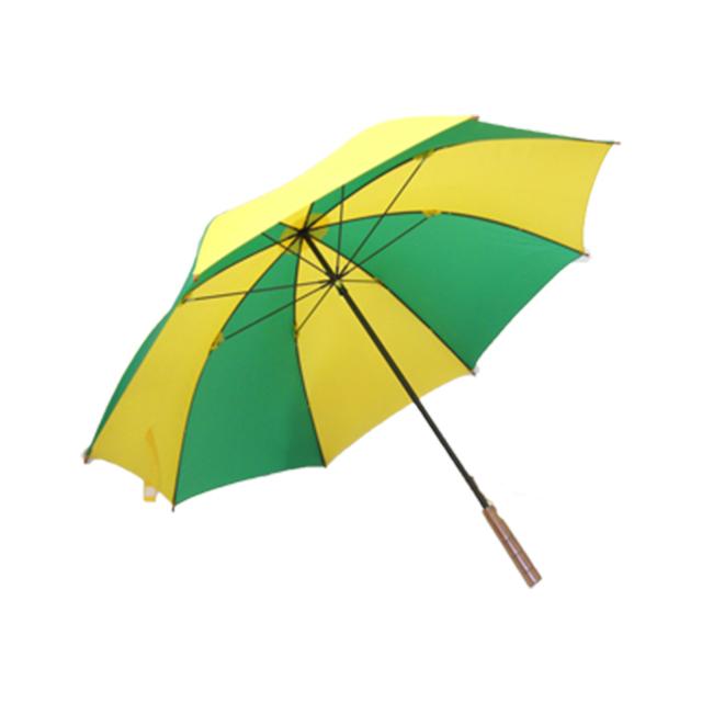 ゴルフ傘 黄×緑(2色コンビ)