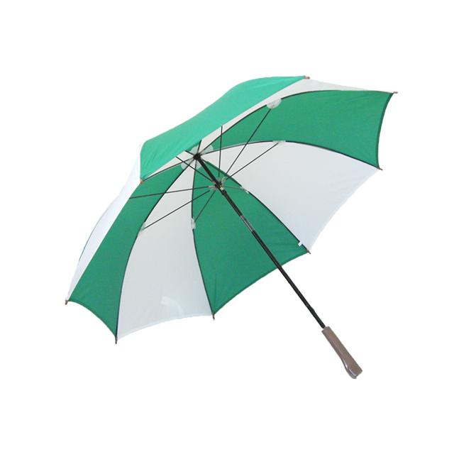 ゴルフ傘 白×緑(2色コンビ)