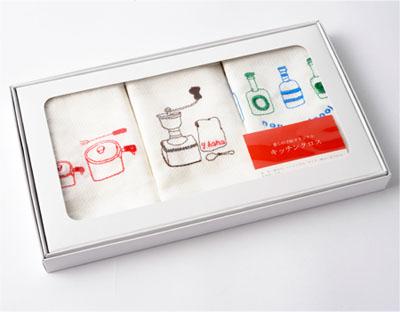 オリジナルキッチンクロスA  3柄袋入り