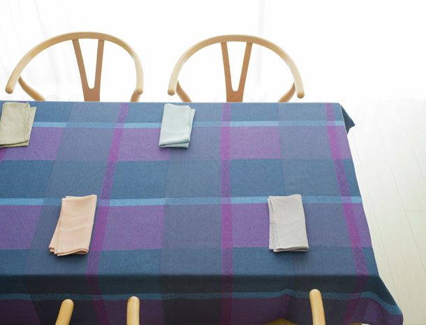 テーブルクロス ブルー
