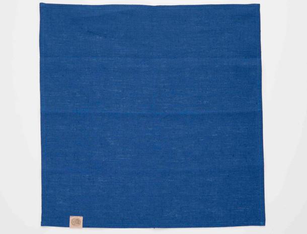 リネンのテーブルナフキン ブルー