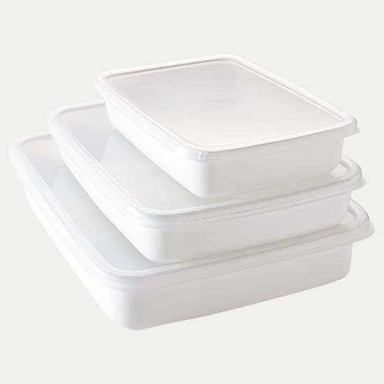 ホワイトシリーズ レクタングル 浅型
