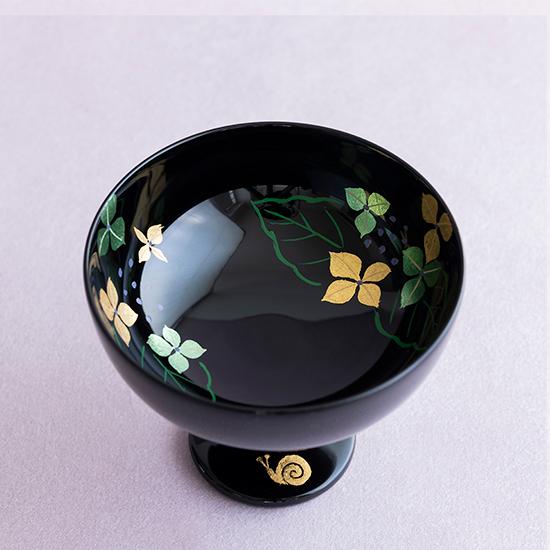 十二ヶ月冷酒杯 6月(紫陽花)