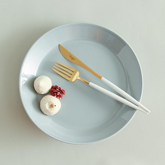 クチポールカトラリー ホワイト/デザートフォーク&ナイフ