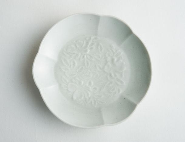 白磁浜梨皿
