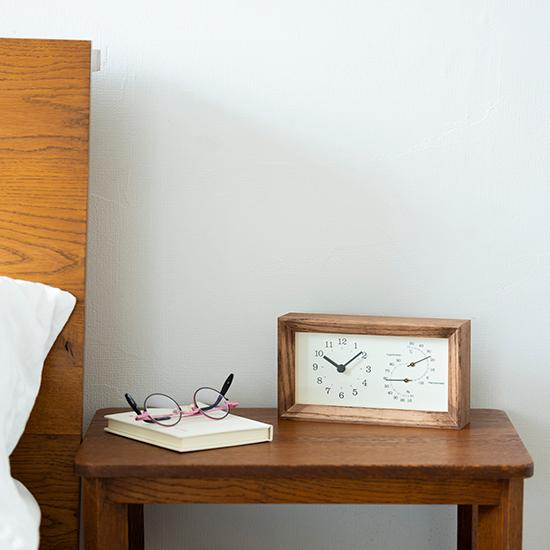置時計(温湿度計付き)
