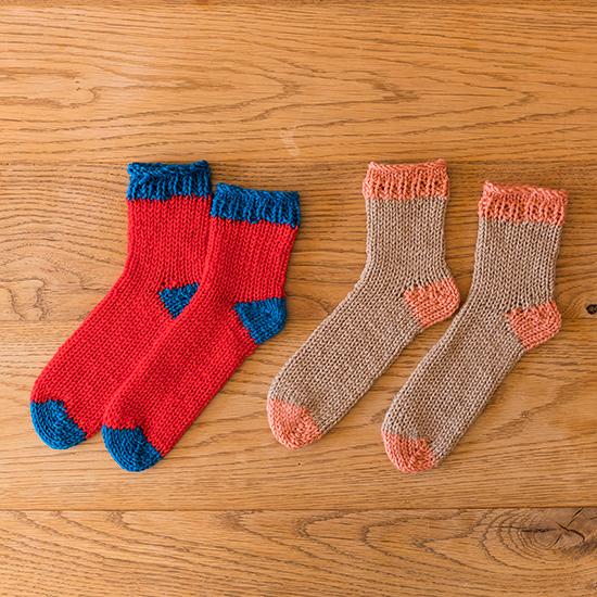 リリアン編みの靴下キット