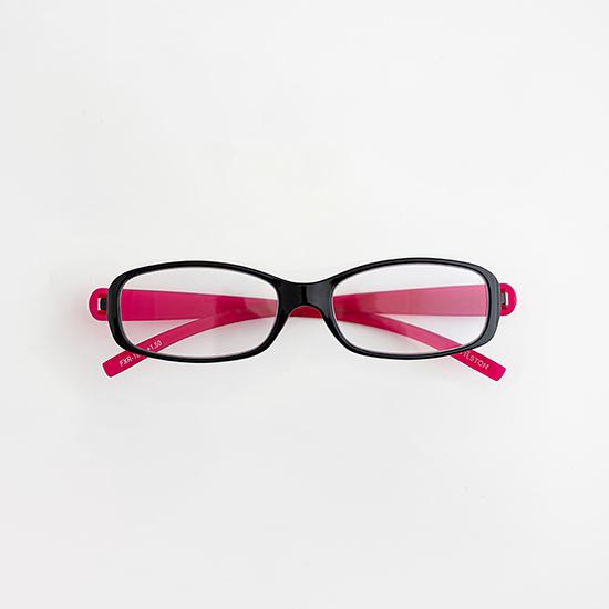 リーディンググラス ブラック× ピンクパープル