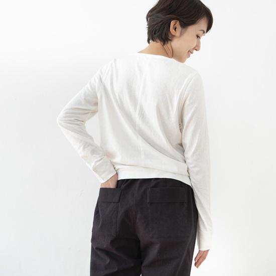 海島綿のプルオーバー ホワイト