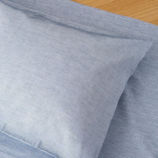 保多織和布団用ピローケース(インディゴ)