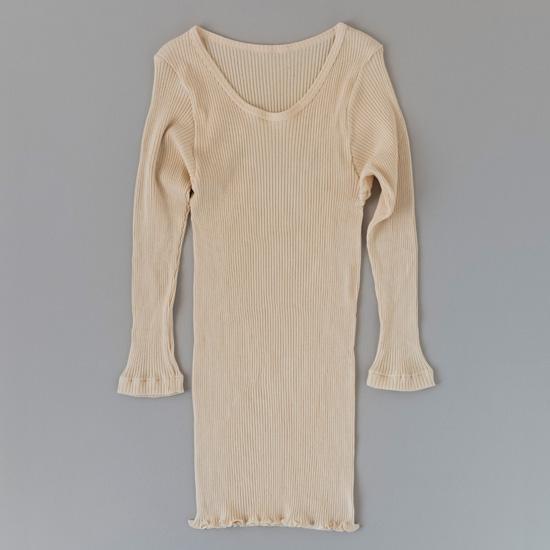 スーピマリブ 八分袖シャツ