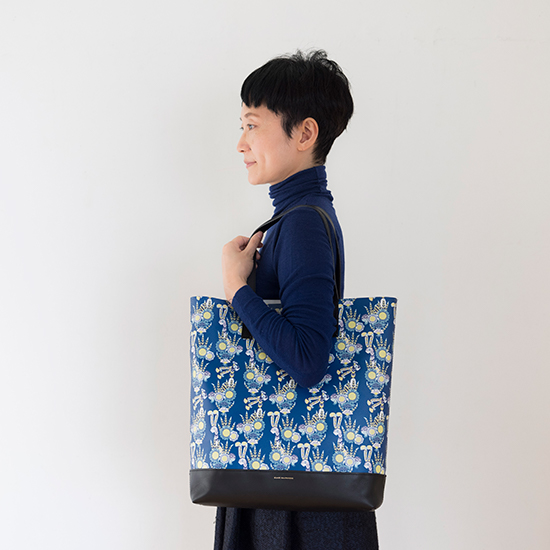 ハーパニエミのバッグ Lサイズ 青