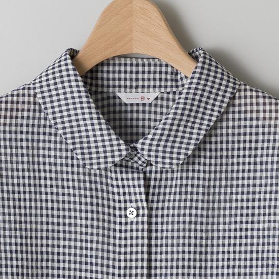 コットンラミーのギンガムシャツ