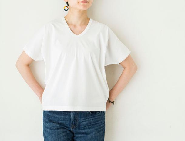 ドレープTシャツ ホワイト