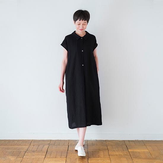 リネンダブルドレス ブラック