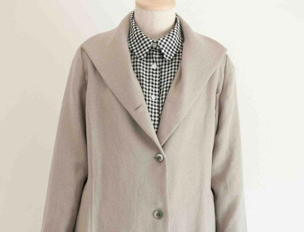 リネンウールの羽織コート