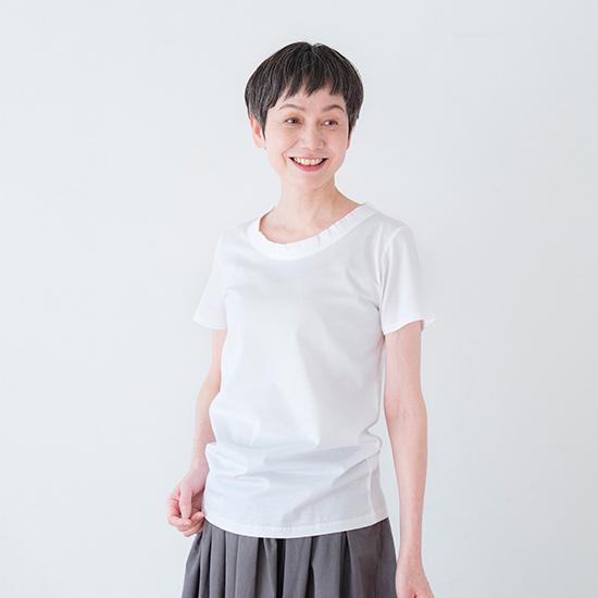 クルーネックTシャツ ホワイト