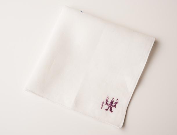 刺繍ハンカチ ホワイト