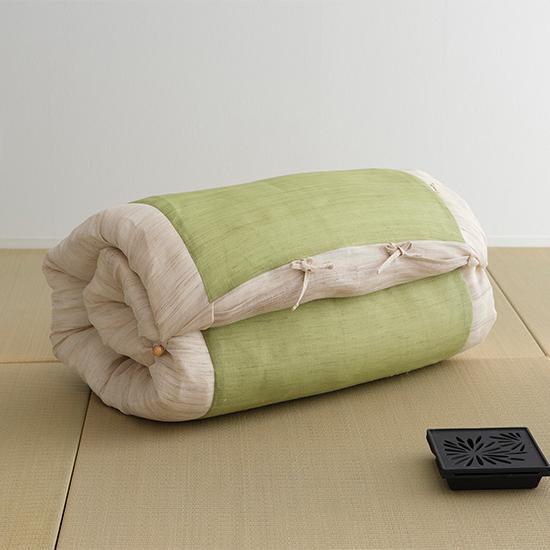 本麻ごろ寝ふとん たわら枕 グリーン