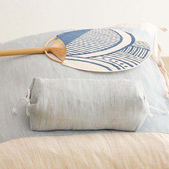 本麻ごろ寝ふとん たわら枕 ブルー