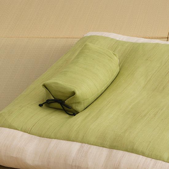 本麻たわら枕 グリーン