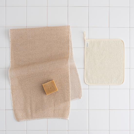 ボディタオルと 洗顔タオル